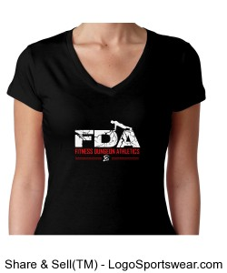 FDA You Can Do Anything For a Minute by Next Level Ladies V-Neck T-Shirt Design Zoom