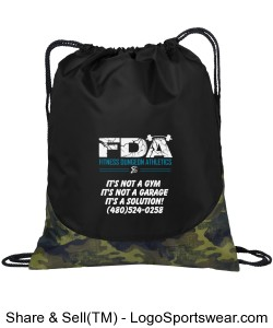 Fitness Dungeon Athletics Camo Draw-String Custom Bag Design Zoom